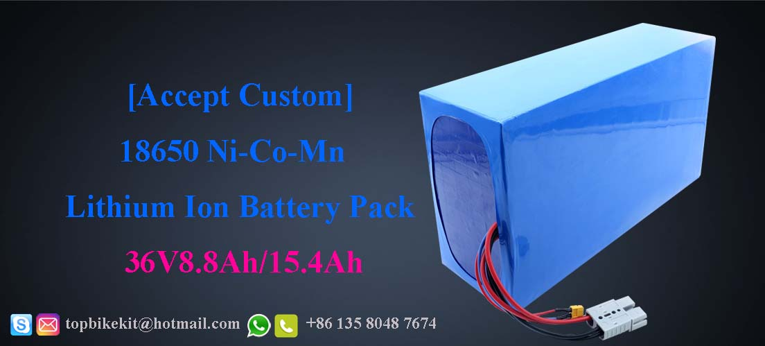 36V8.8AH/36V15.4AH Li-ion 18650 battery pack