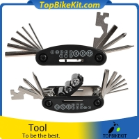 Bicycle Repair Tool Bike Pocket Multi Function Folding Tool 16 in 1