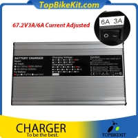 T600A 67.2V 3A/6A two Currents adjustable Charger Alloy Shell Charger for LiFePo4 / Li-Ion / Lead Acid Battery