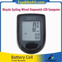 Bicycle Cycling Wired Stopwatch LCD Computer Odometer VELO5 Speedometer Waterproof With 5 Functions