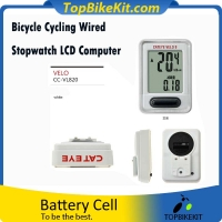 A Velo 9 Bicycle Computer Wired Cycling Speed meter Sets With 9 Functions Black for Sport, Fitness, Training, Health, Exercise Gear