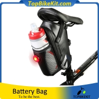 A Waterproof Bicycle Bag with Tail Light