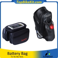A set Waterproof Bicycle Rack Bag with Tail Light + Moblie Phone Screen Touch bag 6.0 inch