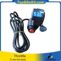 Thumb Throttle with LCD Digital Battery Voltage Display and 3 Speed Switch