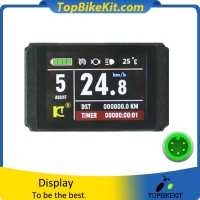 KT LCD8H Color matrix Display Meter 24V/36V/48V with Junlei 5pins waterproof connector