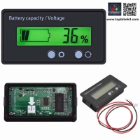 Green Backlit LCD Display Battery Capacity Voltage Meter Test Voltmeter Monitor