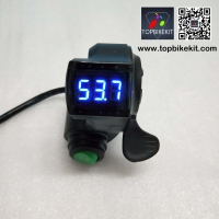 Thumb Throttle with LCD Digital Battery Voltage Display and Cruise