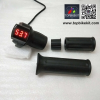 12V-72V Ebike Half Twist Throttle with LED Digital Voltage Display