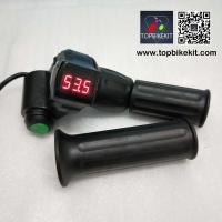 12V-72V Ebike Half Twist Throttle with LED Digital Voltage Display and Cruise Function
