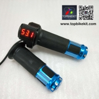 12V-72V Ebike Twist Grip Throttle LED Digital Voltage Display