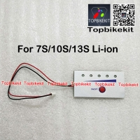 Battery power Display with power switch on / off for Li-ion 7S / 10S /13S Battery Capacity LED Indicator