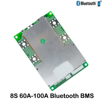 8S 60A-100A LiFeP04 BMS with Bluetooth Android /IOS APP UART or 485 communication